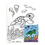 Welcome to the Islands Hawaiian Childrens Canvas & Paint Set Honu Turtle