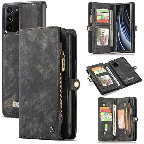 UFinetech Desmontable 2 en 1 Cartera Funda Samsung Galaxy Note 20 Diseñado Magnetica Flip Libro TPU Cuero Tapa Tarjeta Cuerda Cerradas Billetera Funcion Funda de Samsung Galaxi Note 20 5G