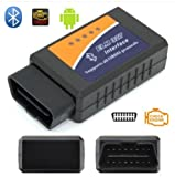 Robostore India Rsi Elm327 Bluetooth 2.1V Obd2 Vehicle Diagnostic Tool (Black)
