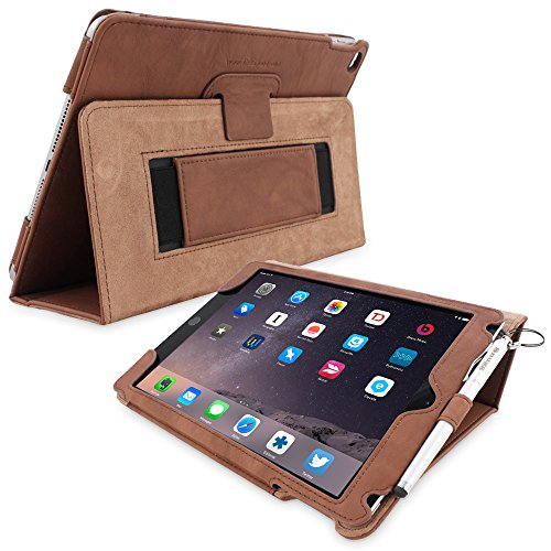 Snugg iPad Pro 9.7 Case, Distressed Brown Leather Smart Case Cover Apple iPad Pro 9.7 Protective Flip Stand Cover with Auto Wake/Sleep