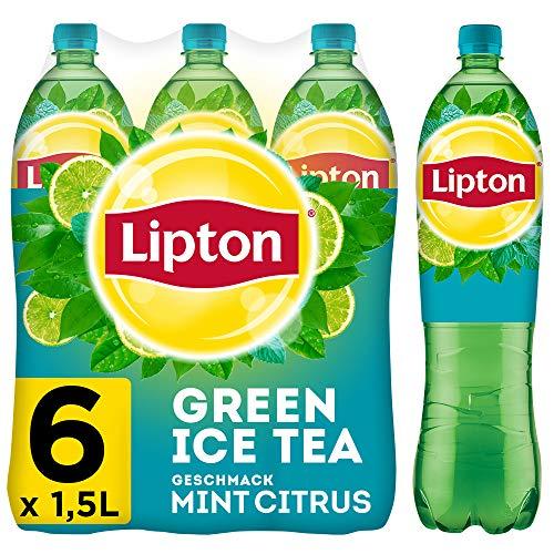 LIPTON ICE TEA Green Citrus Mint, Eistee mit Grüntee und Limetten und Minz Geschmack (6 x 1.5l)