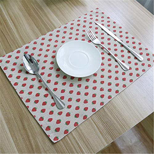 LLYTX Tapis de Table Anti-Glisse en Coton et Lin 32 * 45cm