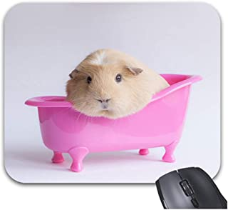 Funice Cute Pet Guinea Pig Mouse Pads Trendy Office Desketop Computer Accessories 9 x 7.5inch