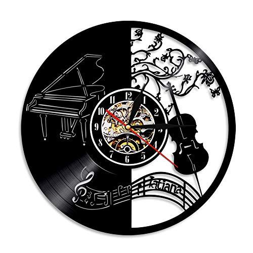 MYYXGS Reloj De Pared PequeñO De Vinilo CláSico Retro: Reloj Redondo Silencioso, Sin BateríA, para Sala De Estar, Dormitorio De 30 Cm (Sin Led)