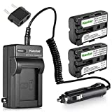 Kastar NP-FM500H Battery (2-Pack) and Charger Kit for...