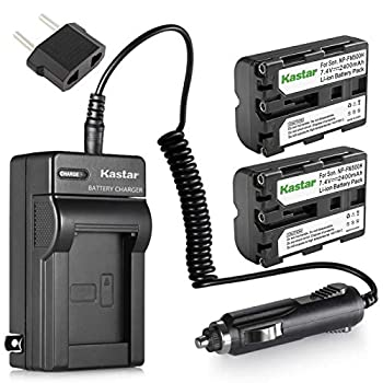 Kastar NP-FM500H Battery  2-Pack  and Charger Kit for Sony DSLR-A100 A200 A300 A350 A450 A500 A550 A560 A580 A700 A850 A900 Alpha SLT A57 A58 A65 A65V A77 A77V A77 II A77M2 A99 A99V CLM-V55 Cameras