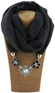 Lannister Donna Sciarpa Ad Anello Elegante Invernali Monocromo Vintage Decorato Stola Sciarpa Scaldacollo Ragazza Costume
