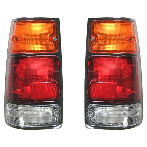 Taillight Lamp Black Bezel Pair for Passport Amigo Rodeo
