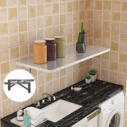Opvouwbare wandtafel voor badkamer, Heavy Duty Kitchen eettafel, verkrijgbaar als laptopbureau, werkbank in de garage