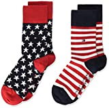 Tommy Hilfiger unisex-child Stars and Stripes Kid's (2 pack) Socks, tommy original, 39/42 (2er Pack)