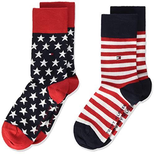 Tommy Hilfiger unisex-child Stars and Stripes Kid's (2 pack) Socks, tommy original, 39/42 (2er Pack)