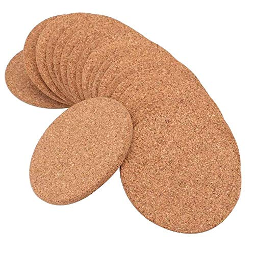 ZGQA-GQA 3,9 Pulgadas Redondas Posavasos absorbentes for Las Bebidas en la Oficina, en casa o cabaña -1/5 Pulgada de Espesor, por 20