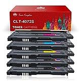 Toner Kingdom Compatible Cartucho de tóner Para Samsung CLT-K4072S CLP-320 CLP-320N CLP-320W CLP-320N CLP-325 CLP-325N CLP-325W CLX-3180 CLX-3180FN CLX-3180FW CLX-3185 CLX-3185F CLX-3185FN CLP-3185FW CLX-3185N CLX-3185W Impresora (5 Paquete)