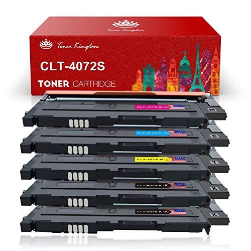 Toner Kingdom Kompatibel Samsung CLT-K4072S CLT-C4072S CLT-M4072S CLT-Y4072S Tonerpatronen für Samsung CLP-320 CLP-320N CLP-320W CLP-320N CLP-325 CLP-325N CLP-325W CLX-3180 CLX-3180FN CLX-3180FW CLX-3185 CLX-3185F CLX-3185FN CLP-3185FW CLX-3185N CLX-3185W Drucker (5 Pack)