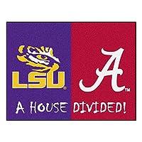 FANMATS - 17150 NCAA House Divided: LSU/Alabama Rug, 34 inch x 45 inch/Small, Black 商品カテゴリー: ラグ カーペット [並行輸入品]