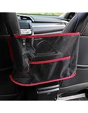 Car Handbag Holder, Seat Back Organizer Mesh Large Capacity Bag, Purse Storage & Pocket, Seat Back Net Bag, Handbag Holder Between The Two Seats of The Car