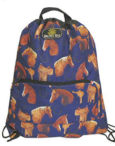 Horse Backpack Drawstring Bag Horse Lover Gift Idea Cinch Pack for Girls or Women Him or Her