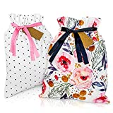 Gather & Knot 16' Premium Fabric Gift Bags - 2pk | Sturdy Canvas Drawstring | Reusable Gift Wrap for...