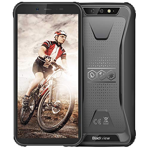 """Rugged Unlocked Cell Phones, Blackview BV5500 Plus 4G Smartphones IP68 Waterproof Drop Proof, 5.5"""" 3GB+16GB Dual SIM [Quad Core] Android 9 4400mAh Battery and Face ID Mobile Phones, Black"""