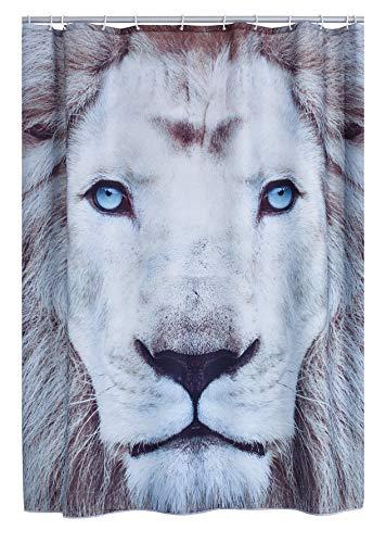 RIDDER 4008300 Duschvorhang Textil ca. 180 x 200 cm, Lion