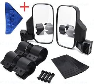 TOPMOUNT 1Pair Side View Mirror Set for UTV Polaris Ranger RZR, Can Am Commander, Maverick X3, Gator, Teryx, Rhino YXZ With 1pcs Cleaning Towel