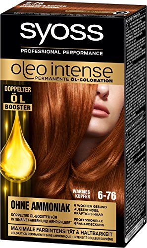 Syoss Oleo Intense Haarfarbe, 6-76 Warmes Kupfer, 3er Pack (3 x 115 ml)