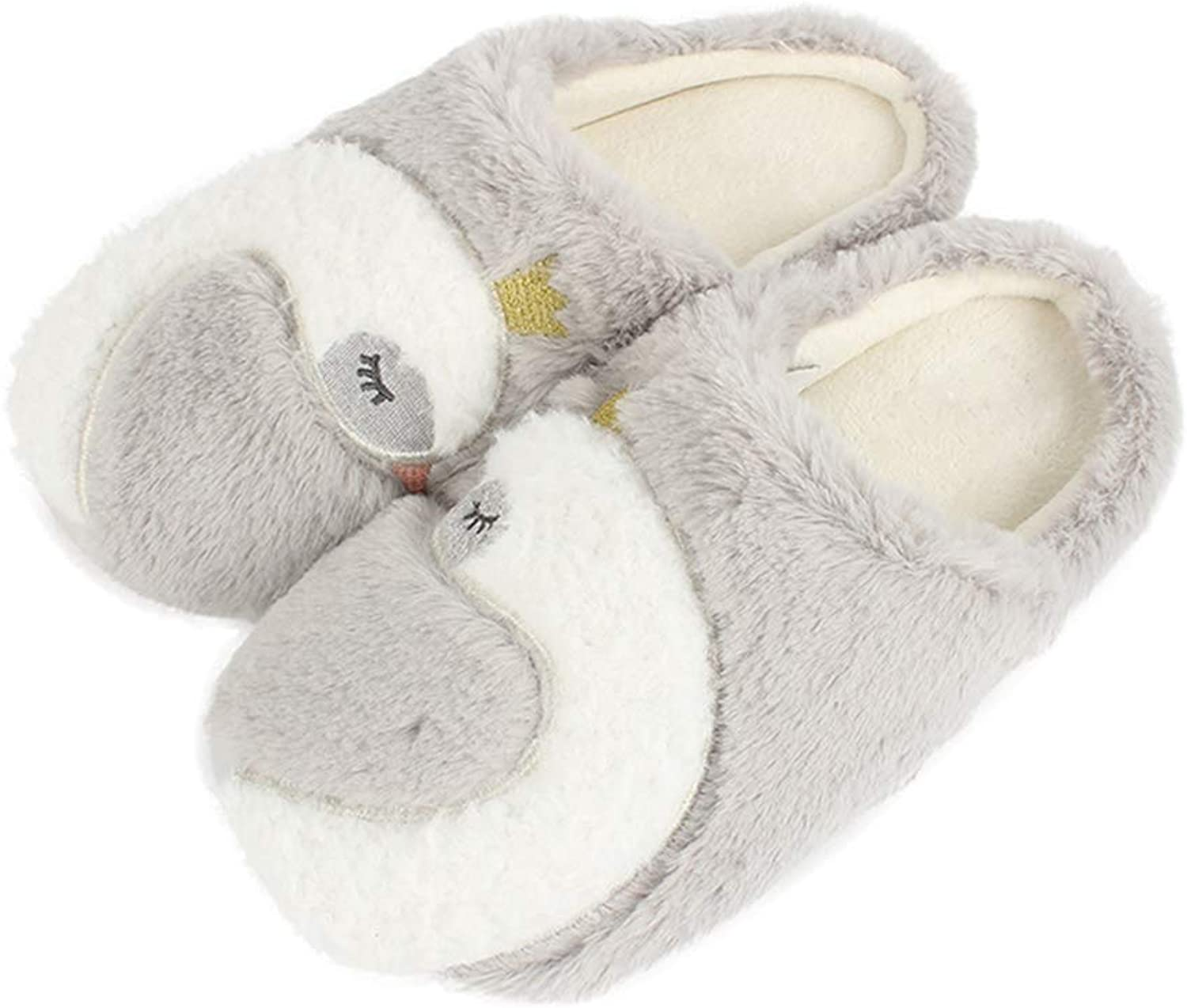 Hoxekle Womens Wool Slippers Fluffy Fur Slides Soft Warm Indoor Flip Flops Woman Causal Fuzzy Plush shoes