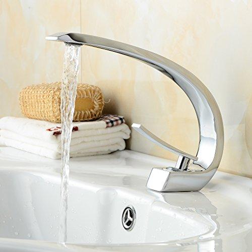 bonade Curved Miscelatore monocomando Lavandino rubinetto miscelatore monocomando rubinetto senza piombo rubinetto per bagno camera da letto
