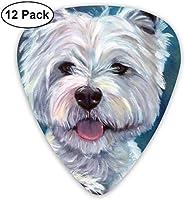 ウエストハイランドホワイトテリア犬いたずら超軽量0.46ミディアム0.73ヘビー0.96mmプリントラウンドフラットソフトプラスチックジャズエレクトリックアコースティックベースギターピックアクセサリーバラエティパック