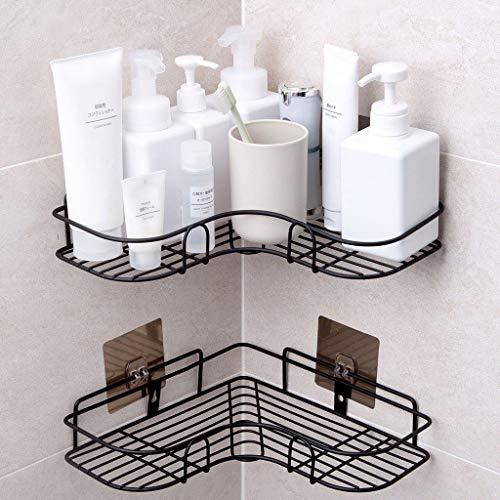 Lfixhssf Badkamer statief Punch Corner rek wandbehang douchegel shampoo opslagframe Lfixhssf zwart