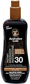 Australian Gold Spf 30 Spray Gel Bronzer, Fragrance: Cocoa Dreams, 237 Milliliters