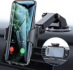 3 in 1 Universal Car Mount: VICSEED car cell phone holder made with airliner PTFE material, can be universally mounted to your dashboard, windshield or vent to meet your demand at your convenience and requirements. Good choice to most of the cars, pi...