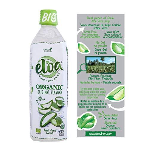 ELOA - Organic Aloe Vera Drink - Boisson à lAloe Vera Bio - Original Flavour - Saveur Originale (12 bottle case - carton de 12 bouteilles)