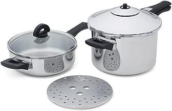 kuhn rikon من الضغط فرن, Duo Pressure Cooker Set, 2-Piece Set, Stainless