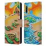 Head Case Designs sous Licence Officielle Drew Brophy Plage de Tortue Art du Surf 2 Coque en Cuir à...