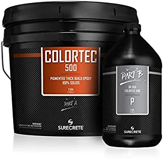 GlobMarble ColorTec DK500 Black Epoxy 100% Solids. Epoxy Floor Base Coat 3 Gal Kit Black