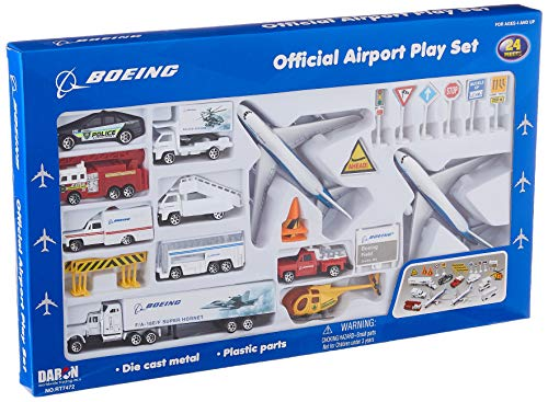 Daron Boeing Aircraft Playset 24-Piece