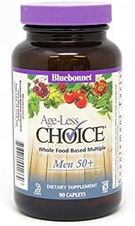 Bluebonnet Nutrition Age-Less Choice Whole Food-Based Multiple for Men 50+ Caplets, 90Count