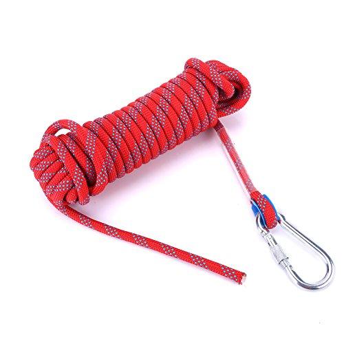 Asixx Kletterseil, Sicherheitsseil Feuerleiter Seil mit Karabiner für Outdoor-Aktivitäten Klettern Survival,10m/20m(10M)