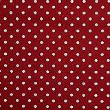 Homescapes Stoff Meterware Polka Dots rot aus 100% Reiner