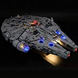 T-Club Led Light Kit for Lego 75192 Star Wars Millennium Falcon - Lighting Kit Compatible with Lego 75192 Building Blocks (Not Include Lego Model)