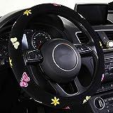 Febelle Coprivolante Auto da Donna 38cm Universale Speciale Ricamo Maniglia Imposta Quattro Stagioni (Farfalla)