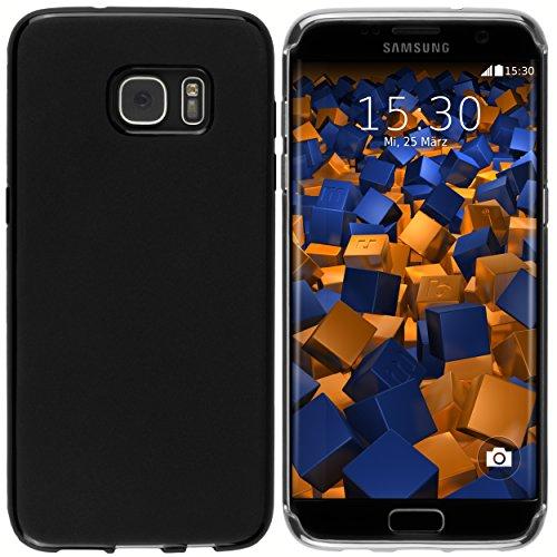 mumbi Hülle kompatibel mit Samsung Galaxy S7 Edge Handy Case Handyhülle, schwarz