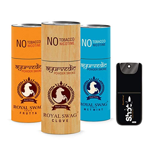 ROYAL SWAG Ayurvedic Cigarette Nicotine and Tobacco Free Combo -15 Stick with Shot (Frutta, Clove and Mint- Each 5)