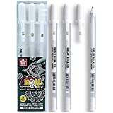 SAKURA Gelly Roll Classic White Gel pen サクラ ジェリー ロール 3本セット ホワイト サイズ05/08/10 [並行輸入品]