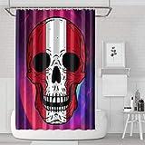 YUYUTE Cortinas de baño Decoración de bañoBath Curtain Skull Peru Flag Bathroom Accessories Colorful Water Resistant for Bathroom,Printing Bath Curtains