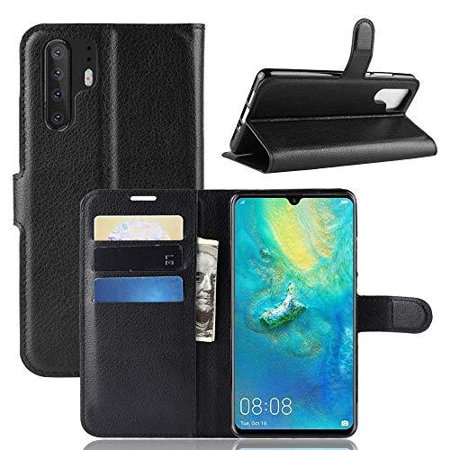 Capa Capinha Carteira 360 Para Huawei P30 Pro Tela De 6.47Polegadas Case Couro Flip Wallet P 30 - Danet (Preta)