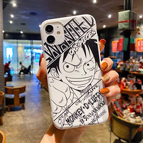 FUTURECASE Anime One Piece Luffy Zoro Sanji Chopper Coque en TPU souple pour iPhone 6 6S 7 8 Plus 12 11 Pro Max Mini X XR XS Max SE 2020 Nami Chapeau de paille (8, iPhone 7 8/SE 2020)