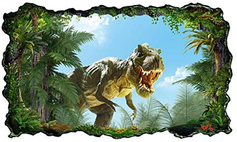 3D Wandtattoo Kinderzimmer T-Rex Dino böse Dschungel Drache ...