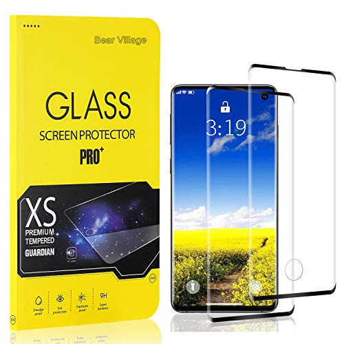 Bear Village Verre Trempé pour Galaxy S10, Film Protection Écran Vitre HD pour Samsung Galaxy S10, Dureté 9H, 3D-Touch, Installation Facile, 2 Pièces